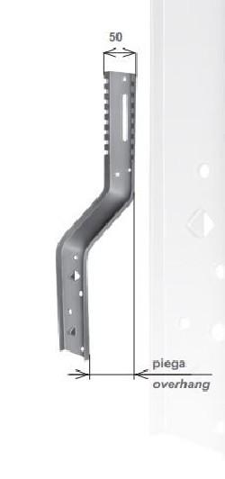 Parte verticale per supporti Torino piega da 85
