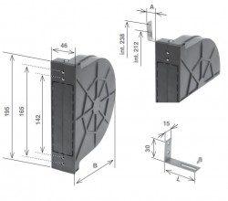 Cassetta per avvolgitore ZENITH a doppio interasse da 11 metri di cintino