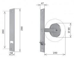 Placca per avvolgitore FORLI-260 Inox