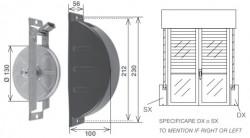 Placca per avvolgitore SE-212 da 11 metri, alluminio plastificato nero