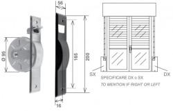 Placca per avvolgitore SE-165 da 5,5 metri, alluminio plastificato nero