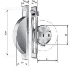 Avvolgitore a semincasso per sostituzioni da 5 metri di cintino, zincato