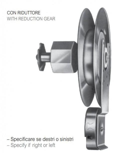 Avvolgitore MINI OMEGA con riduttore, 7.5m cintino, dx e sn