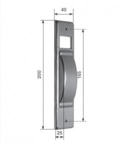 Placca per avvolgitore a semincasso tipo S