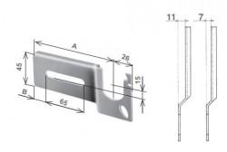 Mensola destra per Torino, con piega da 11 mm