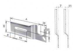 Mensola sinistra per Torino, con piega da 11 mm