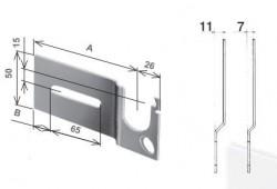 Mensola per Mantova destra, con piega da 11 mm