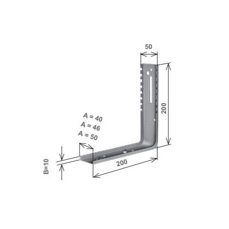 Parte verticale per Torino con piega a squadro
