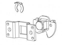 Staffa con perno quadrato per motore ASA DA VINCI 60 ST