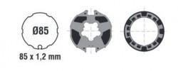 Adattatore per rullo da 85 con ogiva tonda per motori ASA DA VINCI 60 ST/MO