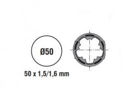 Adattatore per rullo da 50 rotondo in pvc