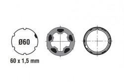Adattatore per rullo da 60, tondo in pvc