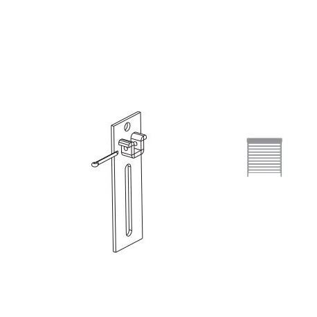 Staffa regolabile verticalmente con perno quadrato