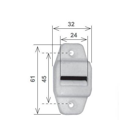 Guidacinghia verticale in nylon marrone con spazzolino