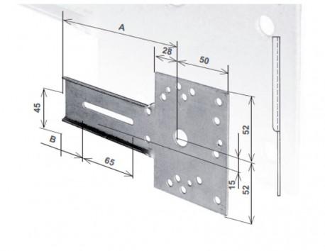 Mensola per supporto Torini/ Monaco, sinistra, con fori filettati