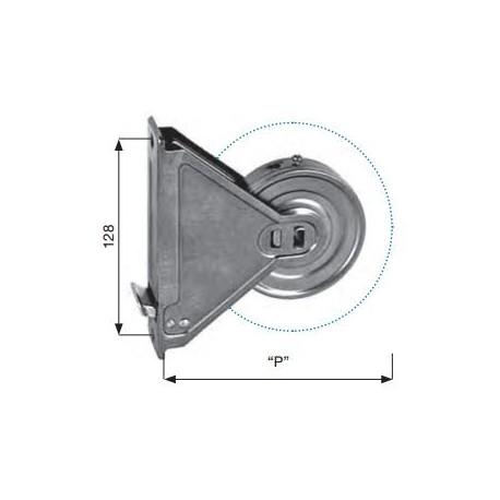 Avvolgitore tapparella Sames, da 128 mm di interasse e 6 metri di cintino