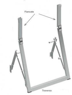 Apparecchio a sporgere a leva laterale, in alluminio, con guide 30x24 con spazzolino