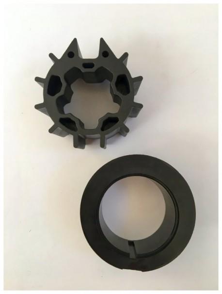 Adattatori per tende da sole motori Somfy, diametro rullo 70 mm, ruota e corona