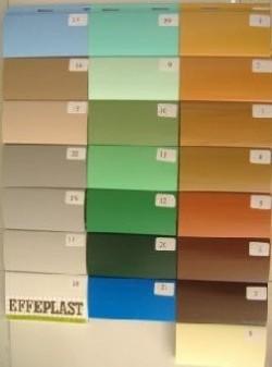 Spedizione campionario completo dei colori per tapparella