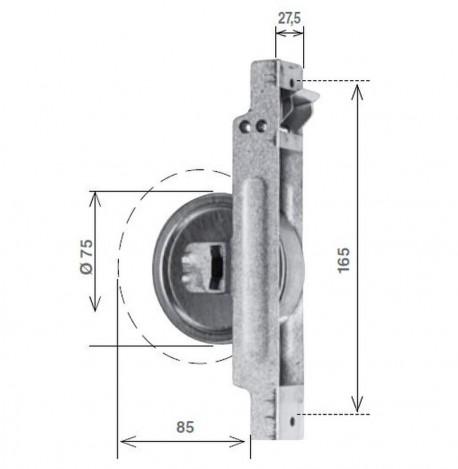 Avvolgitore SR per riduttore da 8 metri di cintino, zincato - schema misure