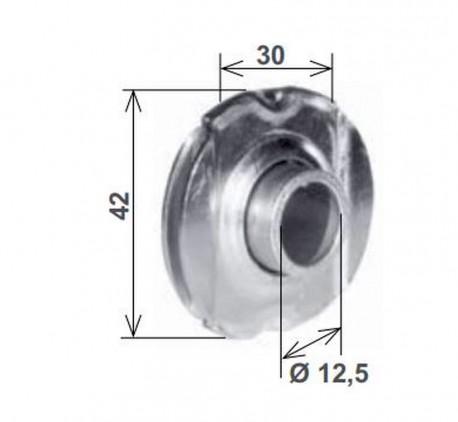 Cuscinetto a sfere per innesto 30 mm asimmetrico - schema misure