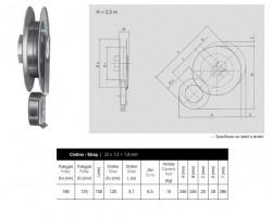 Avvolgitore da cassonetto Omega per puleggia da 190 mm