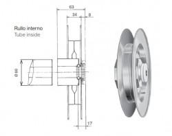 Puleggia per avvolgitore Omega, da 190 mm di diametro