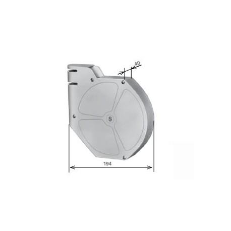 Cassetta bianca per avvolgitore orientabile cromato