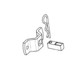 Staffa con perno quadrato completo di culla, senza piastrina