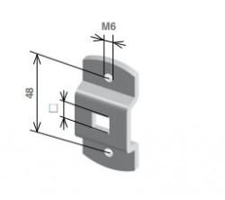 Staffa per motore Stafer con foro quadro