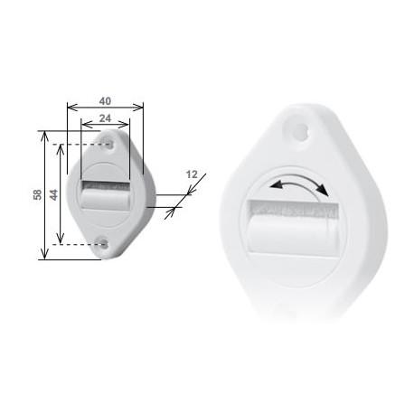 Guidacinghia orientabile con spazzolino, in nylon