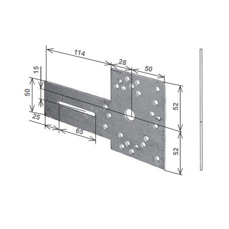 Mensola zincata tipo Mantova per modelli Monaco/Omega