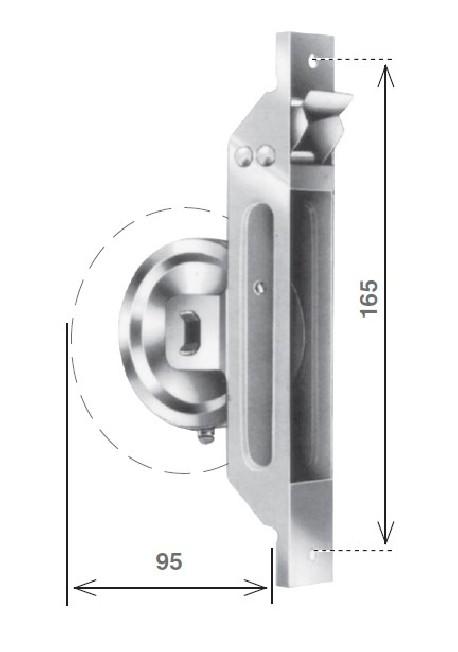 Avvolgitore a semincasso tipo S per tapparella, da 5 metri di cintino - misure