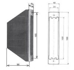 Cassetta per avvolgitore a semincasso tipo S in plastica