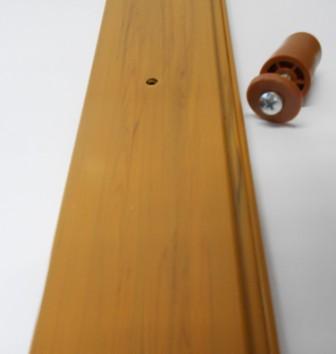 Stecca terminale con foro per inserimento tappo