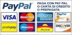 Pagamento con carta di credito o conto paypal.
